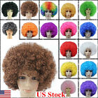 16 Colors New Fashion Women Men Short Curly Afro Clown Party Cosplay Full Wigs