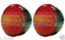 2x 12v/24v LED Posteriore Coda rotonda HAMBURGER Lampada Luci AUTOCARRO CAMION RIMORCHIO AUTO FURGONE