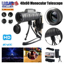 40X60 Night Vision HD Lens Monocular Telescope+ Tripod+ Clip For Universal Phone