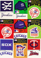 1982 Fleer Baseball Complete Logo Sticker Set With All 128 Variations - No Wax
