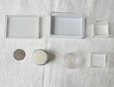 LOT CLEAR PLASTIC PERSPEX JEWELLERY BOXES ALL PRE-USED VARIOUS AMOUNTS 6 SORTS