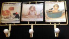 Kleinmöbel & Raumaccessoires Stilmöbel Nach 1945 Wandhaken Motiv Schild Eisenteddy 3er 43x24x7cm Vintage Ästhetik Handtuch Halter