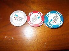 8 pcs Lot of WORLD POKER TOUR Casino Gaming Chips Set Red Blue  Gray