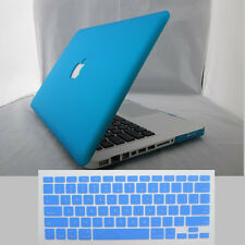 Rubberized Painting Hard Laptop Case Shell for Macbook Air Pro Matte Cover + KB
