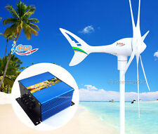 Apollo MAX 550 W 12V AC Magnet Wind Turbine Generator 6 Blade+Charge Controller