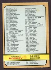 1973-73 OPC O PEE CHEE # 334 Checklist # 3 UNMARKED
