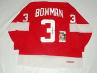 SCOTTY BOWMAN SIGNED VINTAGE CCM #3 DETROIT RED WINGS JERSEY JSA COA LICENSED
