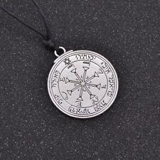 Solomon Seal Pendant Pentacle Magic Talisman Necklace Success Good Luck Vintage