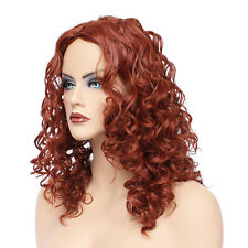 Classic Cap women Synthetic Curly Medium Ruby Fusion full wig HengFeng MHL05