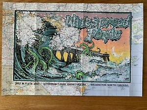 Widespread Panic Wilmington 2021 Poster - Lucchesi/Shaw - Roadmap Variant