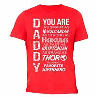 Father's Day Gift tshirt Daddy Superhero shirt Dad T-shirt cool awesome funny