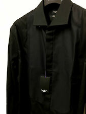 "Paul Smith Tuxedo Evening Shirt16.5"" Eu 42 BLACK SLIM FIT Diamond Weave"