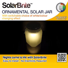 Solar Brite Ornamental Solar Jar With White and Colour Changing Effect