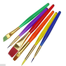 6Pcs Cake Paint Brush Decorating Painting Dusting Sugarcraft Cupcake Baking Tool