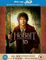 Hobbit An Unexpected Journey Extended Edition 3D Blu Ray Box set Download Copy