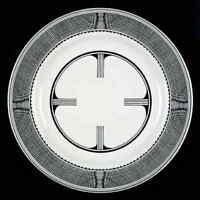Pipestone MIMBRENO BLACK (SANTA FE) Geometeric Dinner Plate 7180111