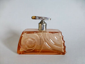 Antique pink glass ,Antique fragance perfume  bottle, decorative perfume bottle