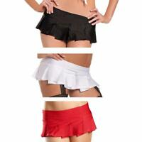 Solid Color Pleated Mini Skirt School Girl Dance Rave Club Wear Costume BW1026