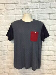 Publish Blue Tee Men's T-Shirt Two Tone Polka Dot Pocket Brand New With Tags XL