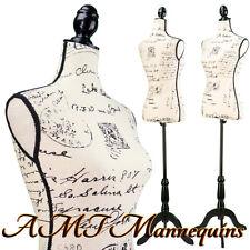 Vintage Style Female Mannequin Toros Tripod Stand Linen Dress Form L05