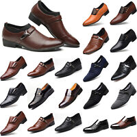 Men Formal Oxfords Business Pointed Toe Dress Shoes Slip On Office Party Wedding