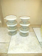 New listing Tupperware 6-Dessert Cups With Stand And Lids 754