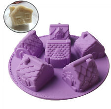 Silicone Country House Shape Soap Mold,Cake Pan, Chiffon Cake Mold For Kids DIY