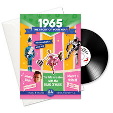 53RD BIRTHDAY | ANNIVERSARY GIFT -1965 4-In-1 Card,Book,CD and Download
