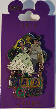 Disney Pin WDI Mardi Gras Tiana and Naveen 2014 Holidays Dangle Pin LE250