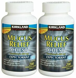 Kirkland Mucus Relief Chest Guaifenesin 400mg Expectorant 400 Tablets 12/2022