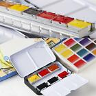 New Solid Watercolor Empty Case For 12 24 Half Pans Colors Artist Paint Iron Box
