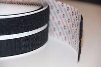 SPECIAL NEW VELCRO brand Black Self Adhesive Stick-On Tape 20mm Wide hook& loop