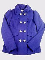 Hydraulic Women's navy blue peacoat size medium double breasted jacket winter HU