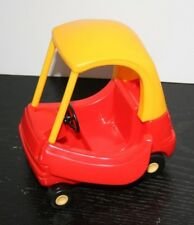 Vintage Little Tikes Dollhouse Cozy Coupe Car Buggy Red Yellow
