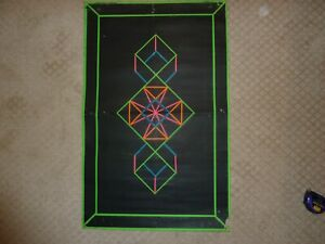 Geometric 1 Original Vintage Blacklight Poster Third Eye Roberta Bell 1967