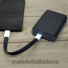 Power Bank 6000mAh Caricabatterie Portatile Nero per iPhone 4 4s 5 5s iPad (DB8)