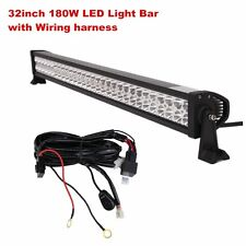 32Inch 180W LED Light Bar Off road Driving Fog Light Combo with Wiring Harness