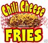 """Chili Cheese Fries Decal 14"""" Concession Restaurant Food Truck Cart Vinyl Sticker"""