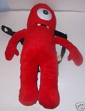 "17"" MUNO! YO GABBA GABBA 2011  RED PLUSH BOOKBAG BACkPACK PURSE handbag DOLL"