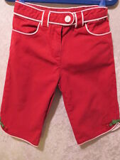 "Gymboree ""Cherry Pie"" Red w/White Piping Trim Pants, 2T"