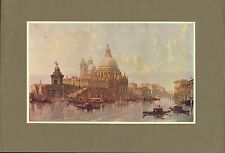 "original 1902 colour print titled "" the church of santa maria della salute """