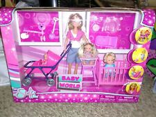 Steffi Barbie size doll  Baby World Playset