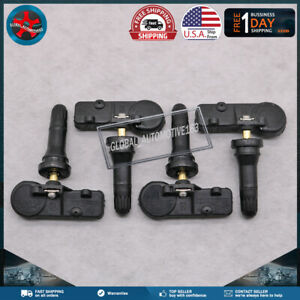 M-Black Metal Clamp-On ITM 433MHz TPMS for Jeep Wrangler 2013-2018 Snap-In
