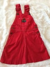 Vintage Oshkosh B Gosh RARE Union Made Red Jumper Girls 5/6 HTF Dress