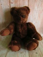Vintage Teddy Bear Dark Brown Full Jointed Growler 18""