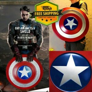Captain America Full Metal Shield Quality Prop Cosplay Display Adult Child Gift