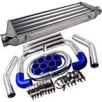2.5'' Universal Piping Kit + Front Mount Intercooler 550x180x65mm Core Aluminum