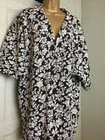 Ladies Black & White Top by Therapy  Kaftan Style Jacket Size Large Bust 52 inch