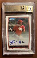 2012 Bowman Chrome Prospects Billy Hamilton Autograph RC BGS 9.5/10 Gem Mint!