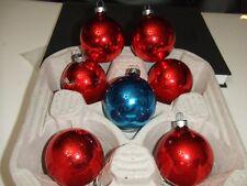 "Vintage 7pc Shiny Brite Mecury Glass 2"" Christmas Tree Ornaments"